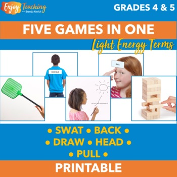 Light Energy Activities - Five Science Review Games in One