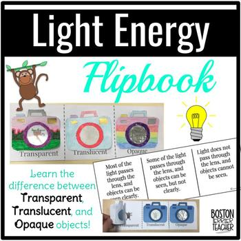 Light Energy FLIPBOOK: Transparent, Translucent, and Opaque Objects