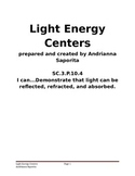 Light Energy Centers: Reflection, Refraction, and Absorption