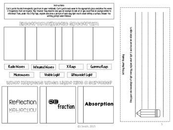 Light Energy Reading Comprehension Interactive Notebook