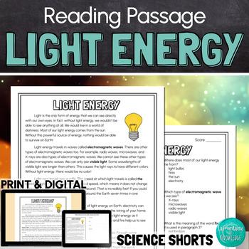 Light Energy Reading Comprehension Passage