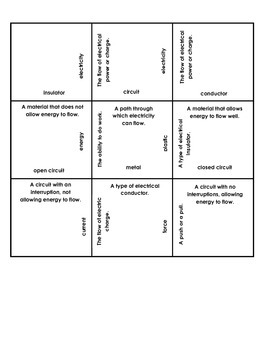 Light Energy Review Game