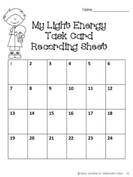 Light Energy Task Cards and Game Board {Perfect for Review}