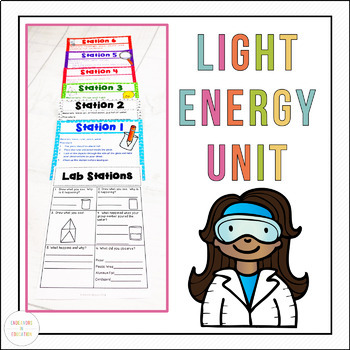 Light Energy Worksheets and Activities