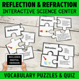 Reflection and Refraction | Light Energy Vocabulary Puzzle