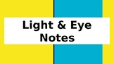 Light Energy and Eye notes