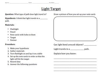 Light Target Experiment (Editable)