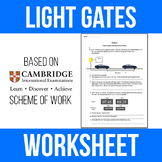 Light Gates and Speed Cameras Worksheet - Physics