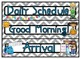Light Gray Chevron and Cute Kids Daily Schedule