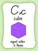 Light Green Cursive Math Alphabet
