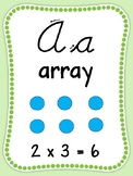 Light Green Cursive Math Alphabet