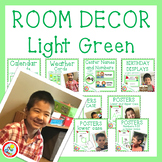 Simple and Time Saving Light Green Room Decor