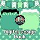 Light Green TPT Seller Design Pack - Digital Papers, Filled Frames, Banner