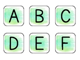 Light Green Watercolor DRA Leveled Book Labels