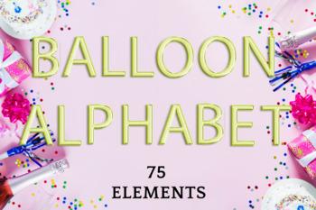 Light Green foil balloon alphabet clipart, Green balloons, Green Foil alphabet