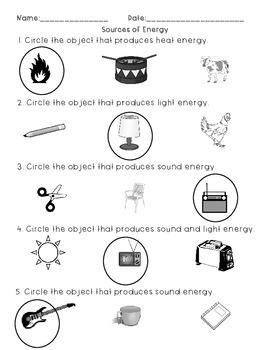 Light, Heat, and Sound Assessment