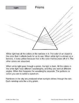 Light: How We See and Prisms
