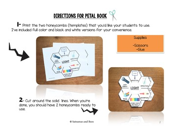Light-Interactive Science Notebook foldable