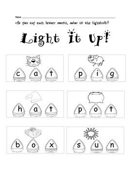 Christmas Lights CVC Activities