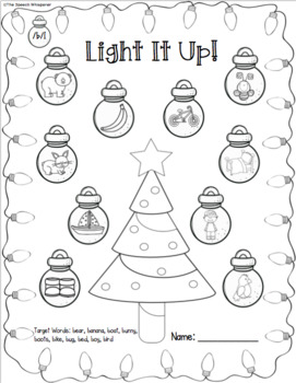 Light It Up: No Prep Christmas Articulation