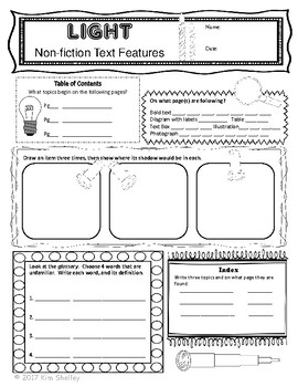 Light It Up - Nonfiction Text Features