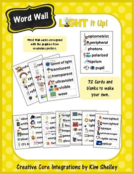 Light It Up - Vocabulary Word Wall