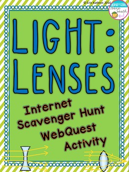 Light Lenses Internet Scavenger Hunt WebQuest Activity