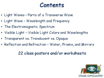 Light Lesson & Flashcards - task cards, study guide, state exam prep
