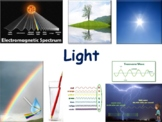 Light Lesson & Flashcards - task cards, study guide, state