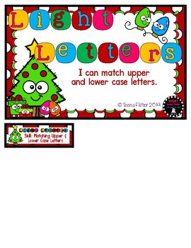 Light Letters' ABC File Folder Game Uppercase and Lowercase Christmas Match