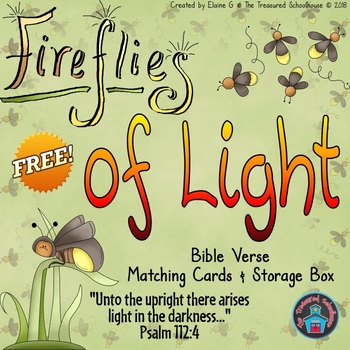 Light Memory Verse Matching Cards & Box {FREEbie}