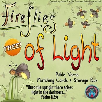 Light Memory Verse Matching Cards & Box {FREEbie}