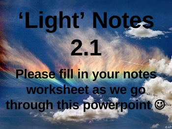 'Light' Notes Powerpoint