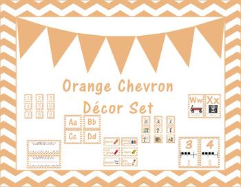 Light Orange Classroom Decor Set