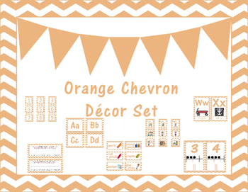 Light Orange Classroom Decor Set