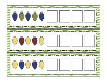 Light Patterns- Winter Math