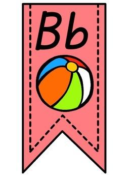 Light Pink Alphabet Banner
