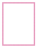Light Pink Border Clipart