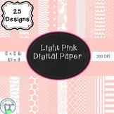 Light Pink Digital Paper Bundle