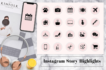 Light Pink Instagram Story Highlights Icons, Instagram Stories Highlight Covers
