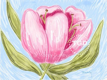 Light Pink Tulip Printable Tracey Gurley Designs