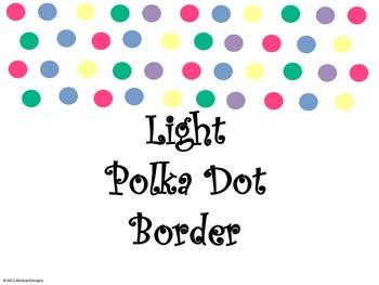 Light Polka Dot Border