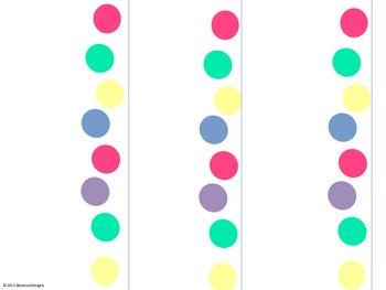 Light Polka Dot Name Plates