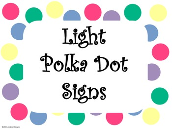 Light Polka Dot Signs