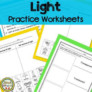 Light Practice Worksheets ENGLISH