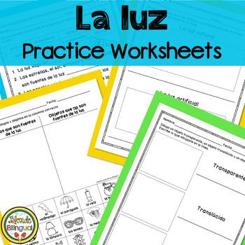 Light Practice Worksheets SPANISH