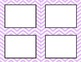 Light Purple Chevron Classroom Labels