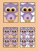 Light Purple Owl  Dolch PrePrimer High Frequency Sight Word Flashcards & Posters