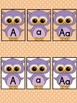 Light Purple Owl  Full Page Alphabet Letter Posters / Word Wall Headers