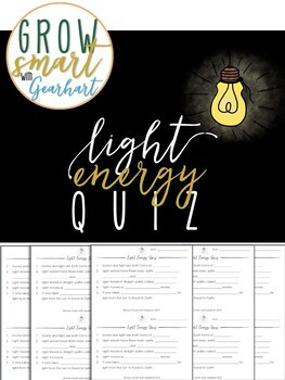 Light Energy Quiz